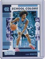 Panini 2019 Contenders Draft Picks School Colors Coby White No. 8 North Carolina