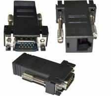 ADATTATORE CONVERTITORE EXTENDER DA VGA MASCHIO A LAN VGA TO LAN CAT 5 5e RJ45