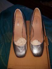 Next Silver Textured High Heels size 3!