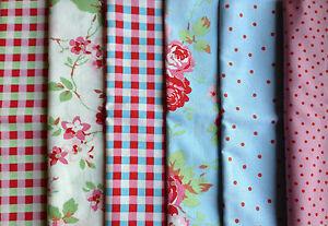 Cath Kidston Ikea ROSALI 100% Cotton Fabric Material / 100cm length 150cms width