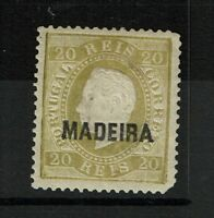 Madeira SC# 22, Mint Hinged, Hinge Remnant, two shallow center thins - S6171