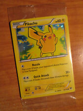 SEALED Pokemon (Cosmos Holo) PIKACHU Card XY BASE Set 42/146 Lego Movie Promo