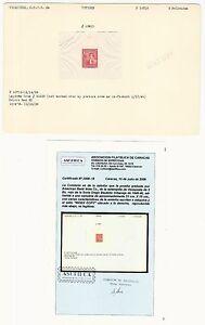 """Venezuela: Proof 1939; """"Index Copy"""",set Diego Urbaneja, scott 363,... IDX016/"""