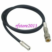 "2FT L-2T2S 3.5mm 1/8"" jack to BNC male plug for Radio Active Antenna audio"