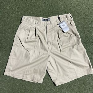 Nike Golf Shorts Mens Size 34 Beige Khaki Pleated 8 Inch Inseam New with Tags