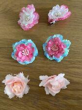 6 Haarblüten + Blüten für das Haar mit Klipp - 3 Paar Blütenklipp  Haaranstecker