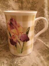 The National Trust Fine bone china thin tea coffee mug Country Check floral