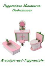Puppenhaus Miniaturen Möbel Badezimmer Holz 4-teilig 7487