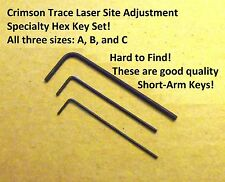 Crimson Trace Laser Sight Specialty Hex Key Tool Set 3 Sizes- Free Ship!