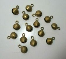 Indian Brass Tone Bells Clam Larger Ghungroo Style Dancing Vintage Lot of 15