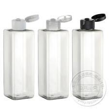 New 10pcs 250ml Clear PET square bottle with clear Flip Bottles