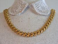 """Beautiful Vintage Goldtone Signed NAPIER 18"""" V-Link Necklace Y1"""