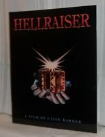 Clive Barker HELLRAISER: A Film Screenplay Clive Barker Illustrations Horror NEW