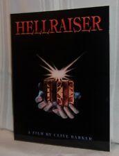 Clive Barker HELLRAISER: A Film Screenplay Barker Illustrations Horror NEW