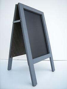 CHALKBOARD-PAVEMENT BOARD-SANDWICH-DISPLAY-BLACKBOARD - 80cm x 40cm GREY 5KGS