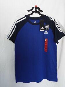 Authentic Adidas LOGO 100% cotton Youth Big Boy Short Sleeve T-shirt Tee 2-pack