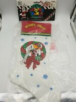 NEW Vintage 1996 Looney Tunes Daffy Duck Christmas Cartoon Stocking Sock NOS