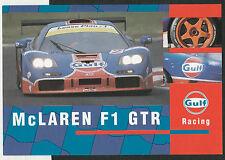 GULF RACING McLAREN F1 GTR BPR LE MANS 1996 PROMO RACE CARD PHOTOGRAPH BROCHURE