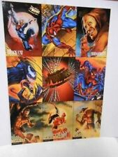 Spider-Man Fleer Ultra rare preview uncut card sheet 1990s