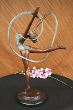 NEW Girl GYMNAST Sports Athlete Man Bronze statue Athletic sculpture Hands Split