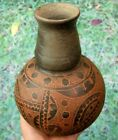 Fine Highly Engraved G10 Arkansas Pottery Water Bottle with COA Arrowheads