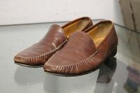 Nordstrom Mens Leather SnakeSkin Shoes Brown Size 9.5 Handmade in Italy