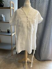 Marks And Spencer Ladies Pure Linen Shirt White  Mix Size 18 New With Tag