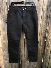 NWT $195 Theory Haydin Straight Slim Fit Stretch Pants Black Sz 32x33
