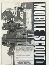 1974 Mobile Scout Travel Trailer Ad RallyMaster Ten Very Liveable Floor Plans
