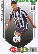 FABIO QUAGLIARELLA ITALIA JUVENTUS CARD CALCIATORI ADRENALYN PANINI 2011