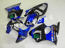 For ZX6R 00-02/ZZR600 05-08 ABS Injection Mold Bodywork Fairing Kit Blue Black