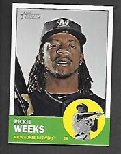RICKIE WEEKS  2012 TOPPS HERITAGE SP #433  MILWAUKEE BREWERS  FREE COMBINED S/H