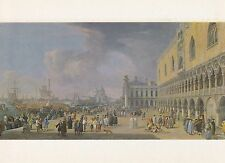 Painting Postcard - Luca Carlevaris - The Doge's Palace and Grand Canal, Venice