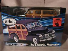1948 Chevrolet Fleetmaster Metal Model Kit #641007 Silver Series By Testors md76