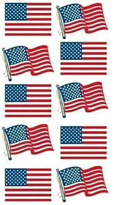 AMERICAN FLAG Dimensional - Sticko Stickopotamus Scrapbooking Craft Sticker