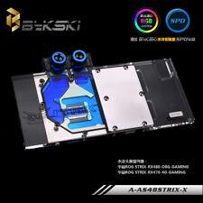 Bykski ASUS AMD ROG RX480 470 RX580 STRIX Water Cooling Block fullCover +RGB LED
