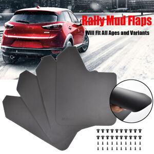 4Pcs Rally Mud Flaps Splash Guards Mudfguards For Mazda Peugeot All Mudflaps GTI