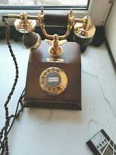 Retro wooden phone VEF Lyon antic for collections