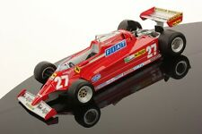 Looksmart Ferrari 126 CK #27 Guilles Villenueve GP Spain 1981 with Showcase 1/18