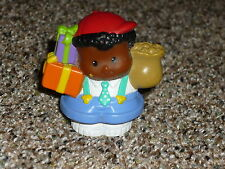 Fisher Price Little People Birthday Michael Boy #1 Blue Suspenders Gift Present