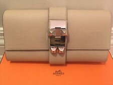 HERMES MEDOR 2016 Pochette 23cm Clutch Palladium HW Swift Leather Trench/Tranche