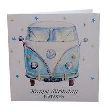 Birthday Card VW Camper Van Brother, sister, Dad, Mum, Friend Personalised