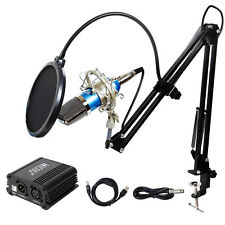 Tonor Pro Studio Condenser Microphone Kit With Black Mic Arm Stand and Pop Filte