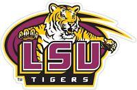 LSU Louisiana State Tigers NCAA Color Decal Sticker - New You Pick Size cornhole