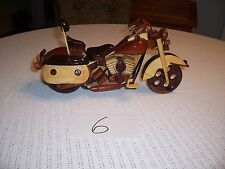 Harley Davidson Wood Model Motorcycle Mahogany And other woods