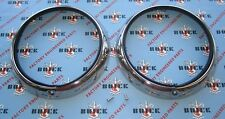 1948-1952 Buick & Oldsmobile Stainless Headlight Bezels. Pair. Headlamp Rings