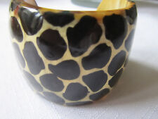 in High x6 ins circumference/curved handmade/Leopard spots Horn /enamel cuff /2