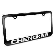 Jeep Cherokee Metal License Plate Frame Matte Black Finish