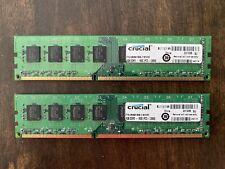 Crucial 8 GB PC Desktop RAM (2 x 4GB) DDR3 1600 PC3-12800 Memory Modules