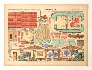 Imagerie D'Epinal No 1006 Scierie, Moyenne Construction Mécanisme paper model